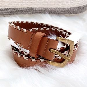 NWT Madewell Whipstitched Leather Belt